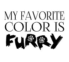 My Favorite Color Is... (Furry) in Black by Zhivago