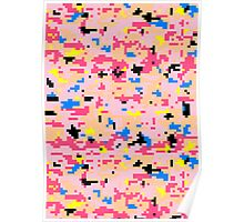 8-bit Digital Camo (Peach) Poster