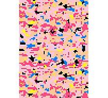 8-bit Digital Camo (Peach) Photographic Print
