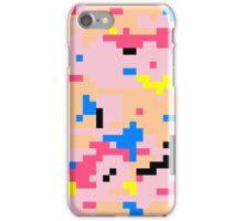 8-bit Digital Camo (Peach) iPhone Case/Skin