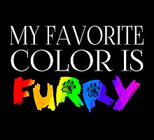 My Favorite Color Is... (Furry) in Rainbow Photographic Print