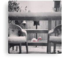 Cold Flamingo Metal Print