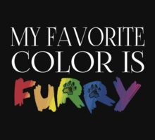 My Favorite Color Is... (Furry) in Rainbow T-Shirt