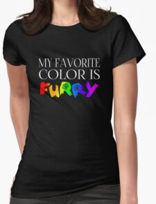 My Favorite Color Is... (Furry) in Rainbow Womens Fitted T-Shirt