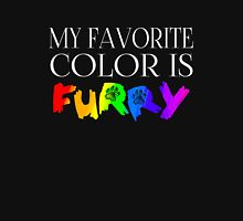 My Favorite Color Is... (Furry) in Rainbow Unisex T-Shirt
