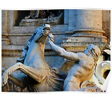 Trevi Fountain Detail Poster