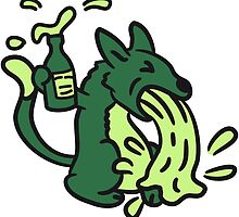 Puking drunk party cat by Style-O-Mat