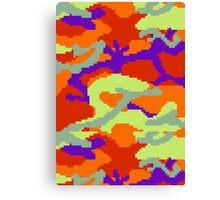 8-bit Woodland Camo (Samus) Canvas Print