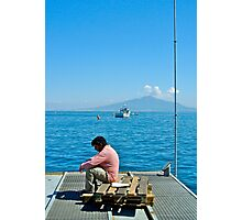 Contemplating Vesuvio Photographic Print