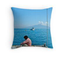 Contemplating Vesuvio Throw Pillow