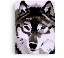 Wolf Ink. Canvas Print