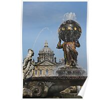 Atlas Fountain, Castle Howard, North Yorkshire Poster
