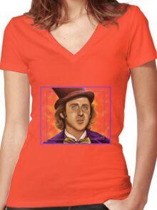 The Wilder Wonka Women's Fitted V-Neck T-Shirt
