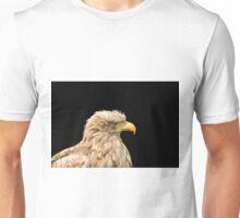 European white tailed eagle isolated on black Unisex T-Shirt