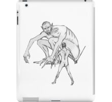 Beowulf Meets Grendel iPad Case/Skin