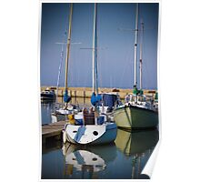 Yachts in the Bay Poster