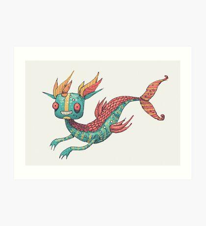 The Fish Dragon Art Print