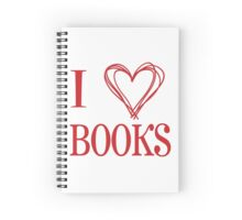 I Love Books Spiral Notebook