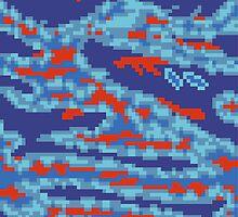 8-bit Tiger Camo (Megaman) by pixelfart