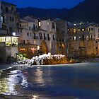 Cefalu, Sicily. The Waterfront at Night. by Igor Pozdnyakov