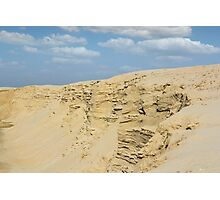 desert with sandy hills and blue sky Photographic Print