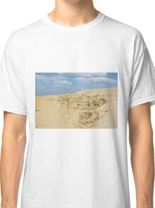 desert with sandy hills and blue sky Classic T-Shirt