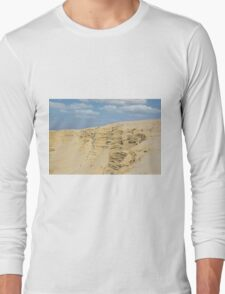 desert with sandy hills and blue sky Long Sleeve T-Shirt
