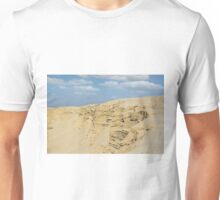 desert with sandy hills and blue sky Unisex T-Shirt