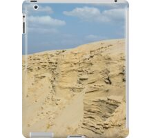 desert with sandy hills and blue sky iPad Case/Skin
