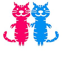 2 couples cats love Photographic Print