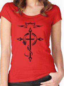 Black Fullmetal Alchemist Flamel Women's Fitted Scoop T-Shirt