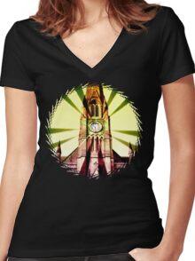 church bells Women's Fitted V-Neck T-Shirt
