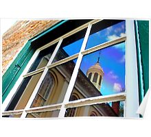 Reflection, Fauquier County Courthouse Poster