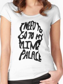 Mind Palace (black) Women's Fitted Scoop T-Shirt