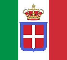 Flag of Kingdom of Italy, 1861-1946 by abbeyz71