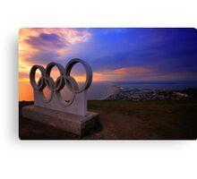 Portland Olympic Sunset Canvas Print