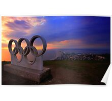 Portland Olympic Sunset Poster