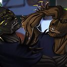 Thistledoom and Brier Fight by Aimee Cozza