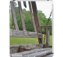 Bench at its end iPad Case/Skin