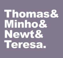Thomas Minho Newt Teresea by zorpzorp