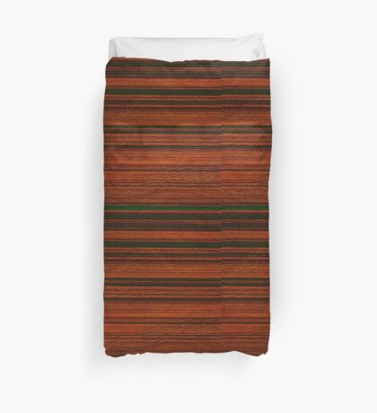 Banded Spinless Acacia Duvet Cover