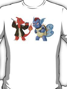 Charmeleon and Wartortle / Reptincel et Carabaffe T-Shirt