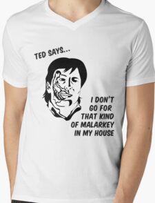 Ted says Mens V-Neck T-Shirt
