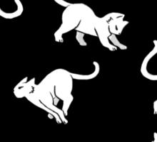 Kitties - White on Black Sticker