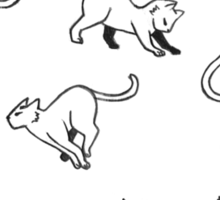 Kitties - Black on White Sticker