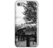 Quiet Quebec city sidewalk iPhone Case/Skin
