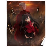 Fate/Stay Night Unlimited Blade Works - Archer & Rin Poster