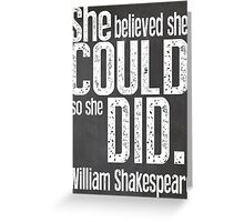 Shakespeare Women's Quote Greeting Card
