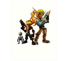 Jak & Dexter and Ratchet & Clank Art Print