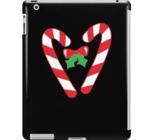Christmas candy canes with a bow iPad Case/Skin
